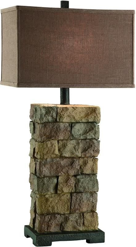 Crestview Collection CIAUP474 Sedona Tall Table Lamp 9.5/17 X 9.5/17 X 11