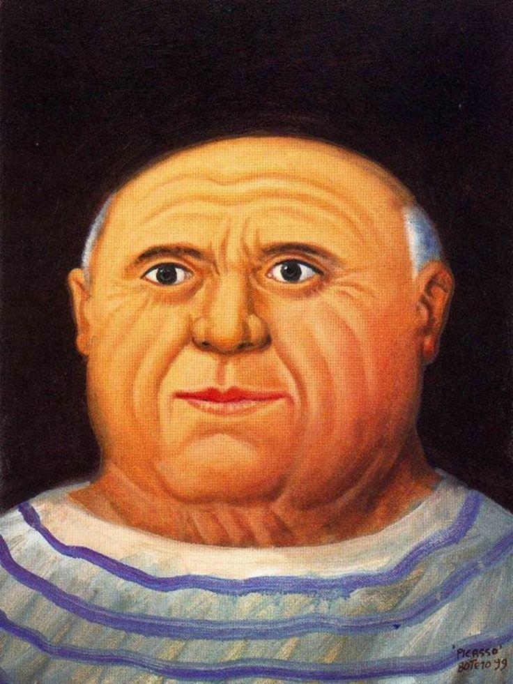 Índice de biografías - Fernando Botero - Retrato de Picasso