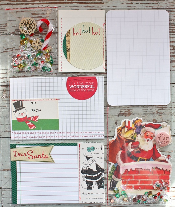 Mish Mash: Project December 2012...floating items in clear pockets