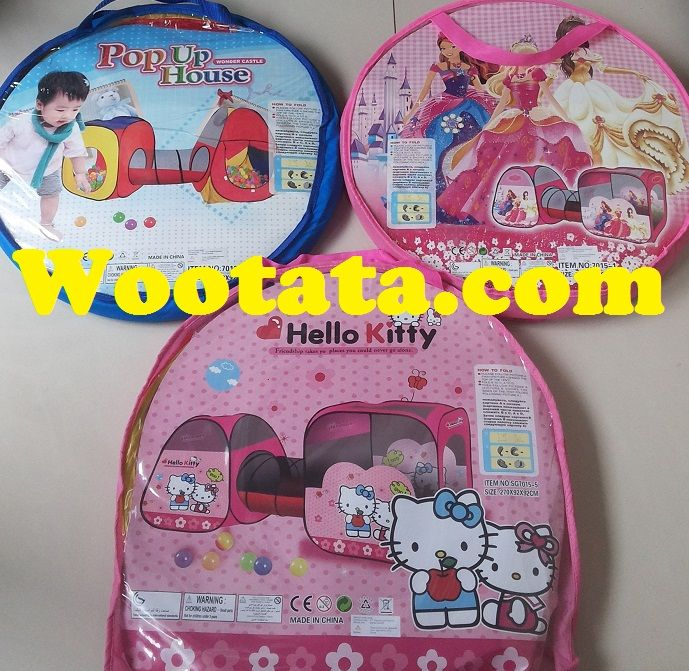 Tenda Terowongan Anak Hello Kitty Murah