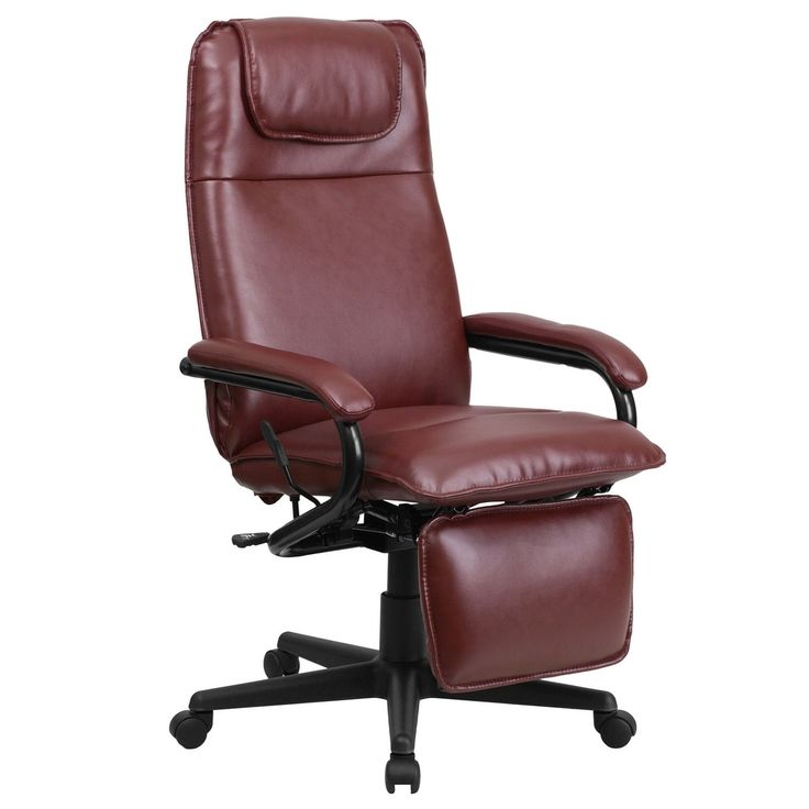 Offex High Back Burgundy (Red) Leather Executive Reclining Office Chair [OF-BT-70172-BG-GG]