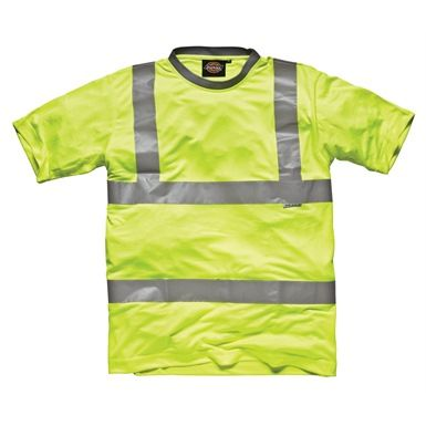 Dickies High Visibility Safety T-Shirt is a great for workers to wear when the temperature soars. Ideal for site workers, breakdown repairmen, engineers and farm-hands. Also perfect for cyclists. Conforms to EN471.