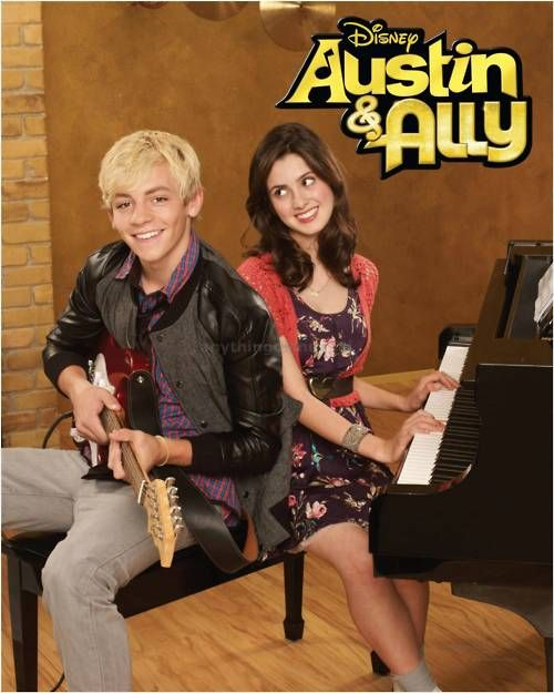 Laura Marano as Ally Dawson & Ross Lynch as Austin Moon. I love this show lol it's all about music