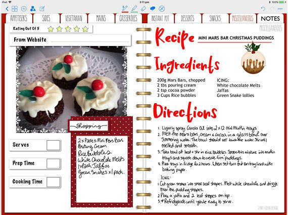 Digital Recipe Journal For Goodnotes With Hyperlinks Etsy Food Journal Basic Planner Digital Planner