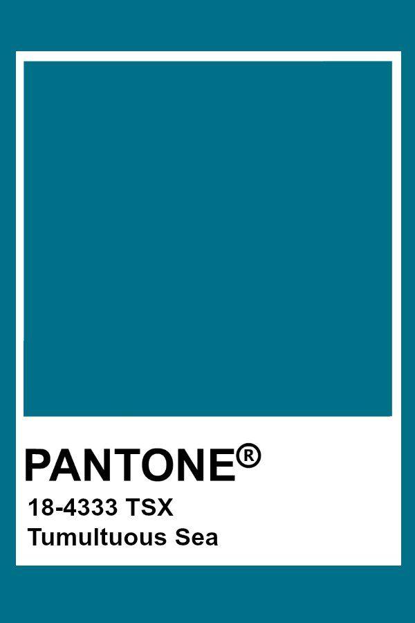 Pantone Tumultuous Sea Pantone Colour Palettes Pantone Blue Pantone Swatches