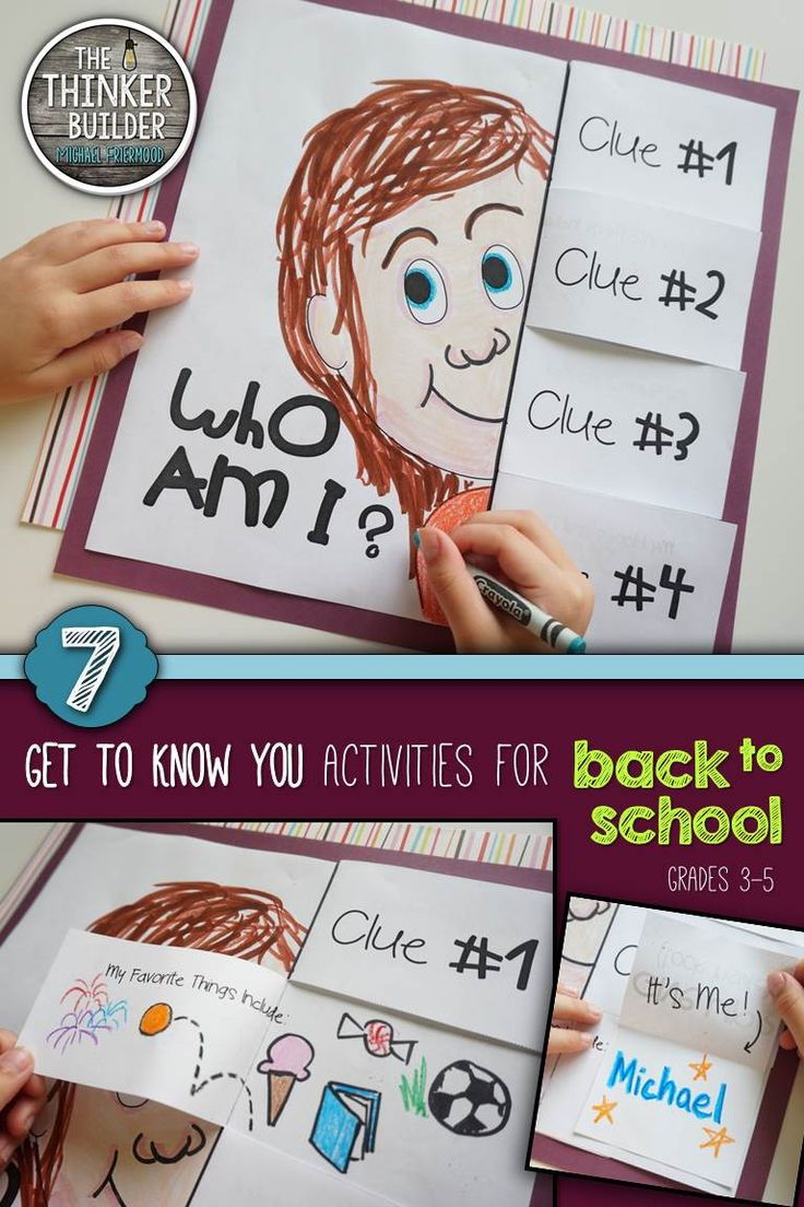 7 fun and fresh activities to help students get to know each other. Grades 3-5 ($)