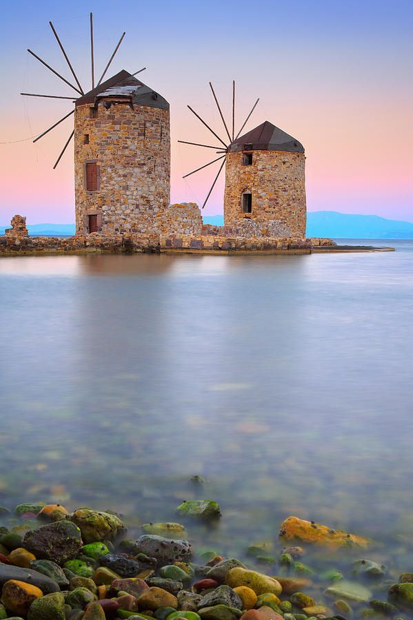 Windmills - Chios, Greece