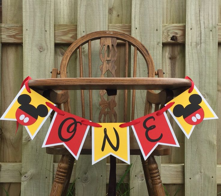 Mickey Mouse Highchair Banner Mickey Cake Smash Banner Mickey ONE Banner Mickey Banner Mickey Party Decor Baby's 1st Birthday Party Supplies by PhasesOfLove on Etsy https://www.etsy.com/listing/291013339/mickey-mouse-highchair-banner-mickey