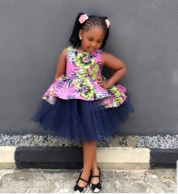 Ankara dresses African Baby Dress African Print dress Toddler dresses, Ankara Baby  Dress With Head Band African Girl Dress