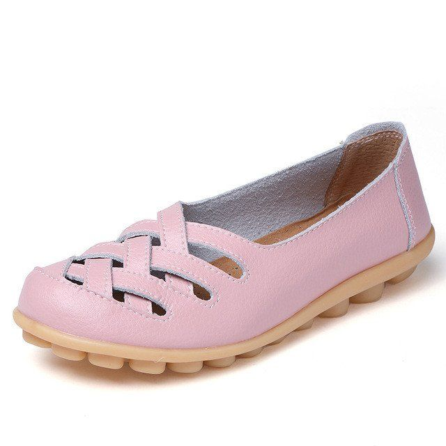 Pretty Pink Casual Comfy Smooth Shoes with Lattice Hatched Upper - Com – Nodule Shoe