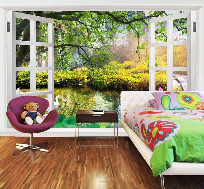 Les 14 meilleures images du tableau wallpaper 3d papier peint 3d trompe l 39 oeil sur pinterest - Tapisserie trompe l oeil ...