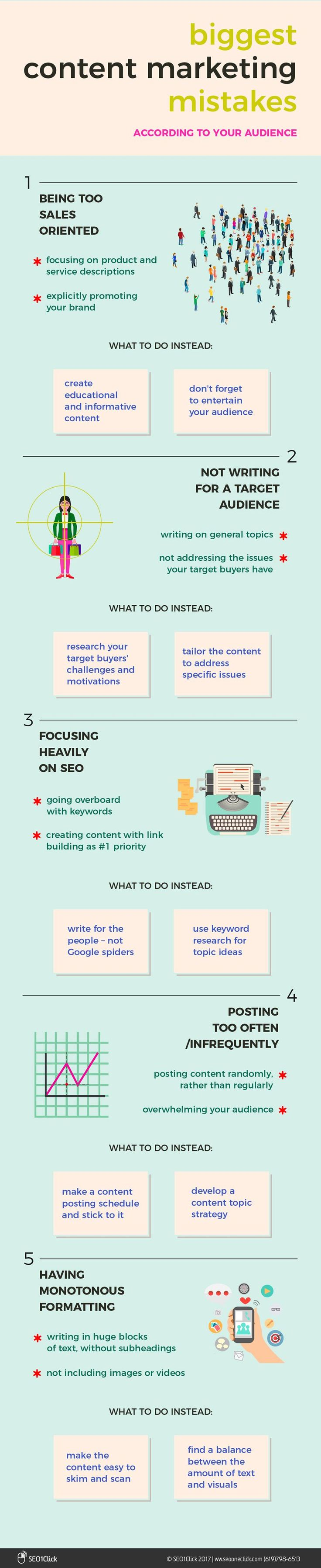 5 Content Marketing Mistakes That Turn Your Audience Off [Infographic] - @redwebdesign Leia os nossos artigos sobre Marketing Digital no Blog Estratégia Digital em http://www.estrategiadigital.pt/category/marketing-digital/