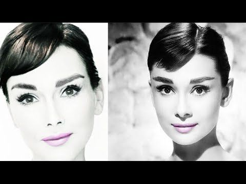 Audrey Hepburn MakeUp Tutorial: How to Look  Like Audrey Hepburn - YouTube