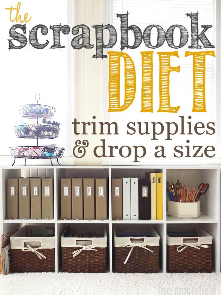 The Scrapbook Diet: Trim Supplies U0026 Drop A Size. Less