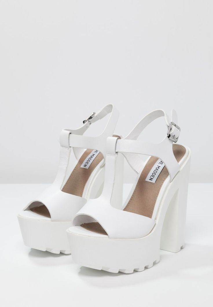 Steve Madden GIRLTALK - Platform sandals - white for with free delivery at  Zalando