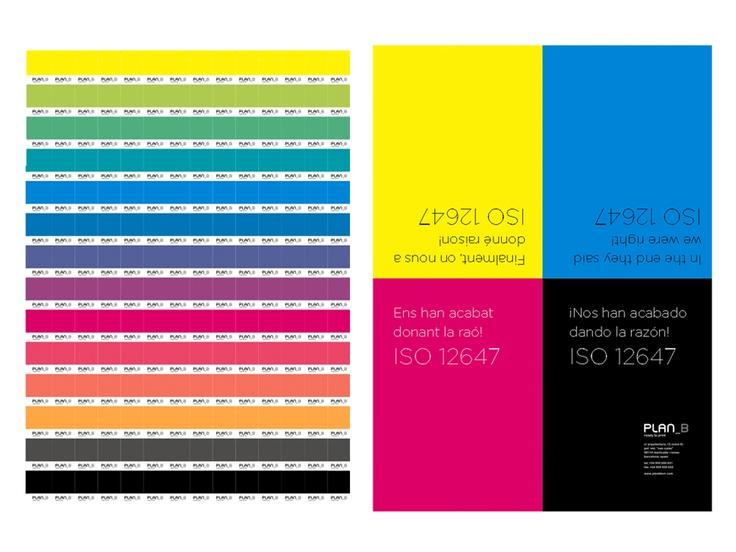 Campaña marketing directo a clientes y colaboradores con motivo de la concesión de la ISO de color. 2009. Plan B - Diseño Artimaña -  www.artinet.net