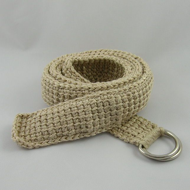 Afghan Stitch Belt ~ free pattern