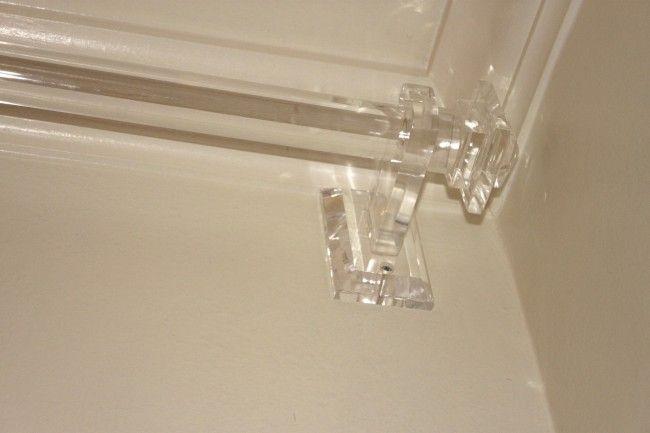 Plexi-Craft Acrylic Rod, Finial, & Bracket