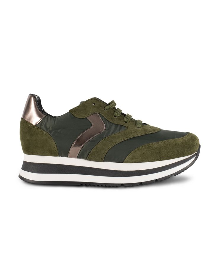 GRUMMAN sneaker with metallic details... Khaki