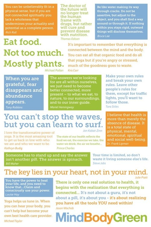 some beautiful gems of wisdom compiled by mind body green
