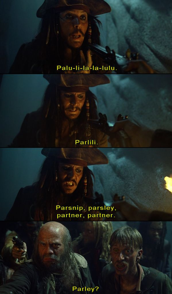 thats the one! parley!: Best Movie, Jack Sparrow, Pirates Life, Books Movies Tv Etc, Pirates Of The Caribbean, Movie Quotes, Captain Jack, Pirate Life, Black Pearls
