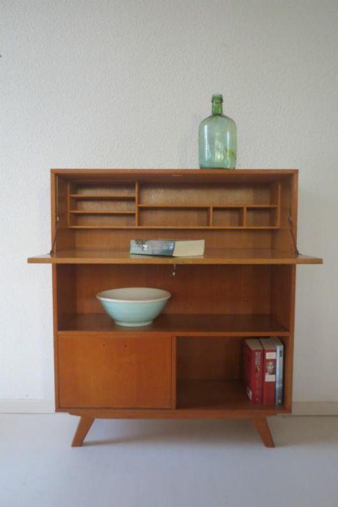 retro vintage secretaire buffetkast kast kastje jaren 50 60 furniture and interiors i love. Black Bedroom Furniture Sets. Home Design Ideas