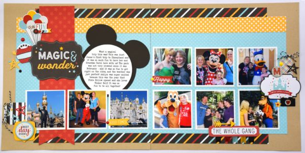 A Week of Magic & Wonder: Day 4 | Double Page Layout - Echo Park Paper