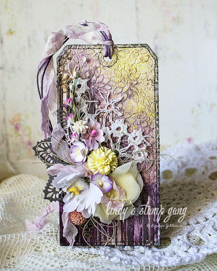 janeza's art blog: Floral Tag for LSG - video tutorial.
