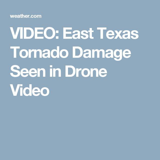 VIDEO: East Texas Tornado Damage Seen in Drone Video