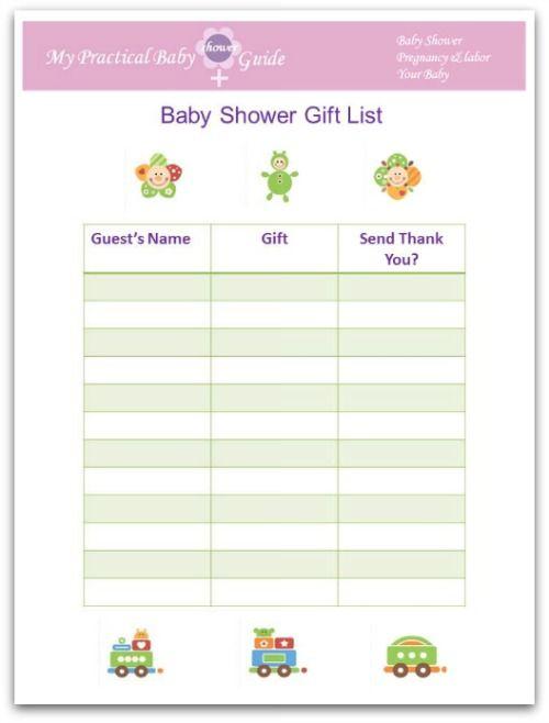baby shower gift list baby shower ideas pinterest baby