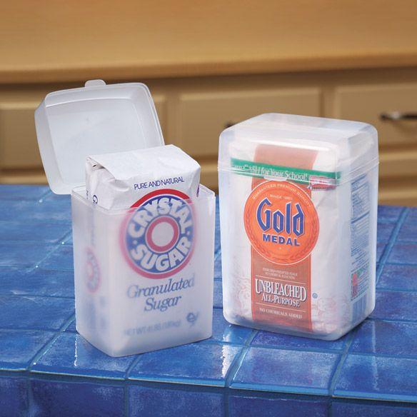 Flour And Sugar Keepers - Sugar Storage Containers - Miles Kimball