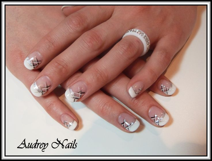 decoration ongles french