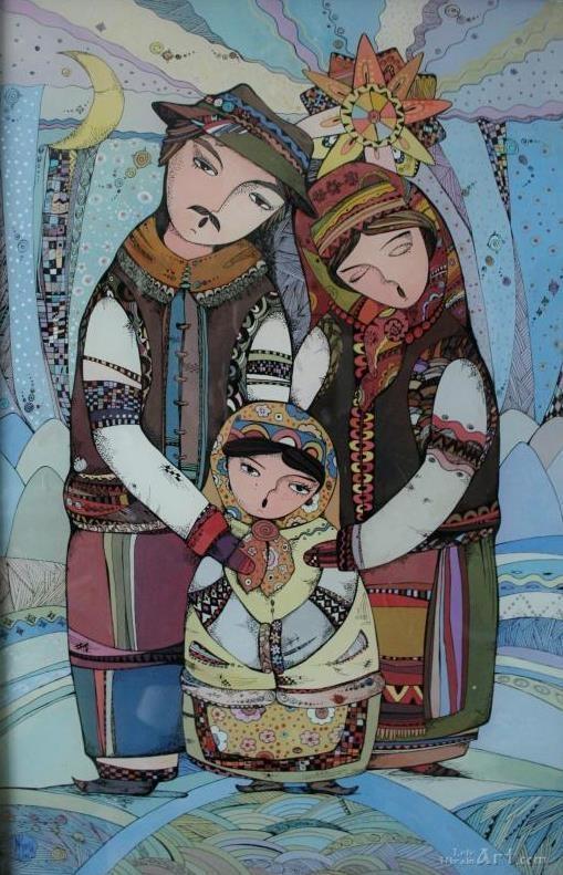 10 Best Christmas Paintings Nativity Creche Crib Wall