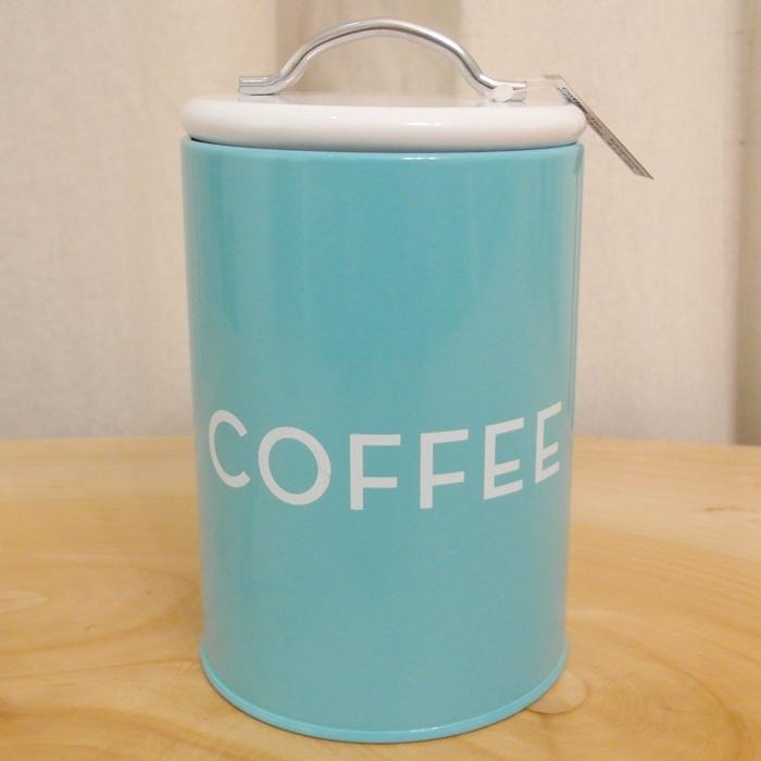 Retro style coffee tin storage - blue