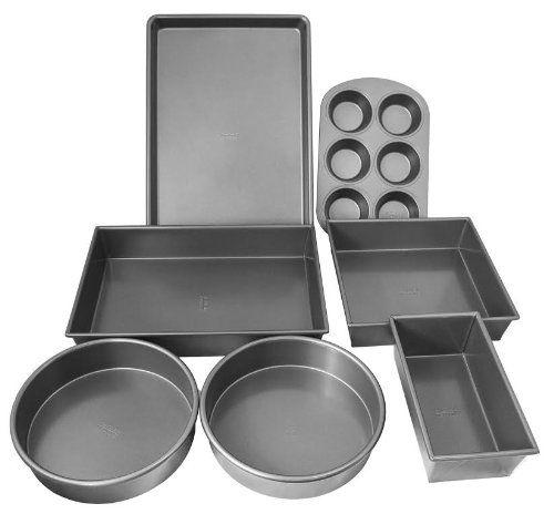 Chicago Metallic 7 Piece Bakeware Set ** Additional details @ : baking necessities