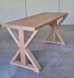 X Base Table: Start to Finish tutorial (based on an Ana White DIY design)