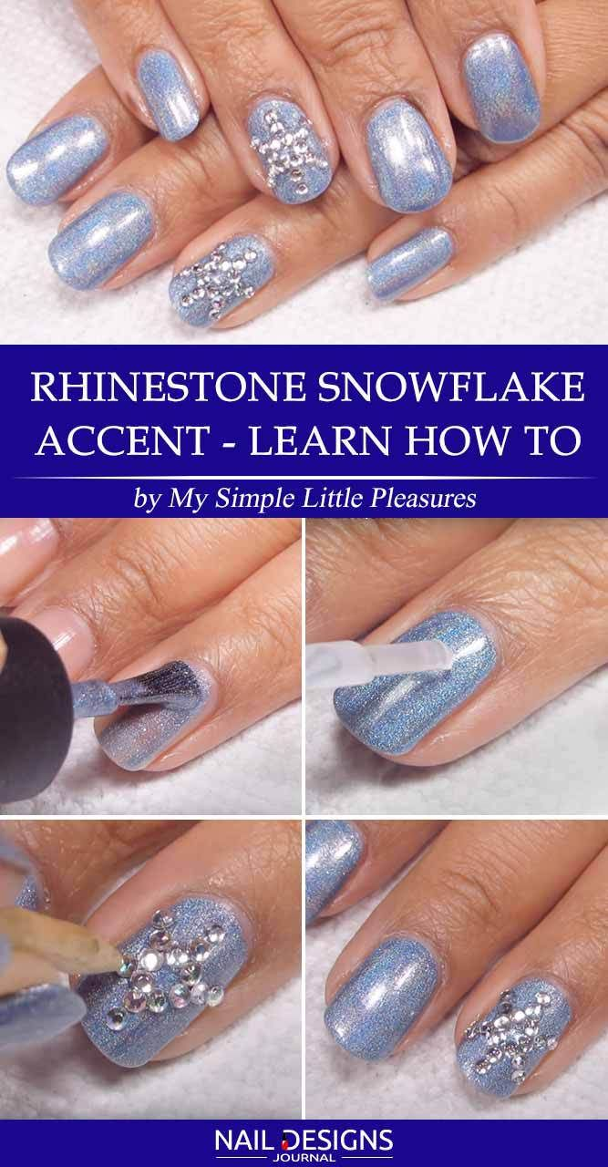 7 Best Tutorials On Snowflake Nails Designs Nail Art Pinterest