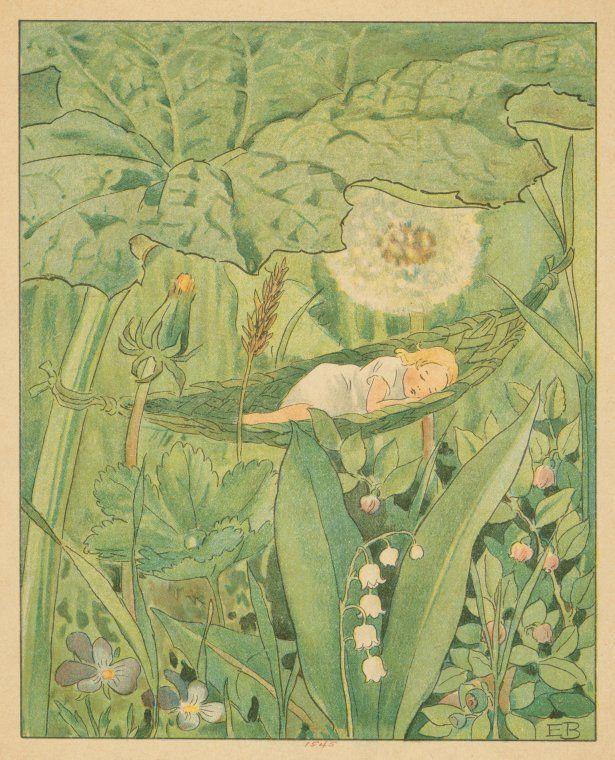 Elsa Beskow   Fast asleep  (1909)