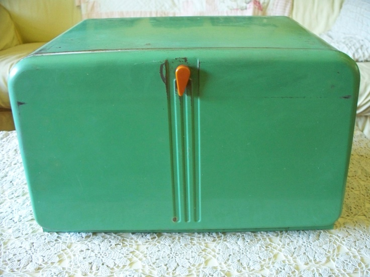 Tin Bread Box- Nana's was a different color and the knob was slightly different but this is very close.