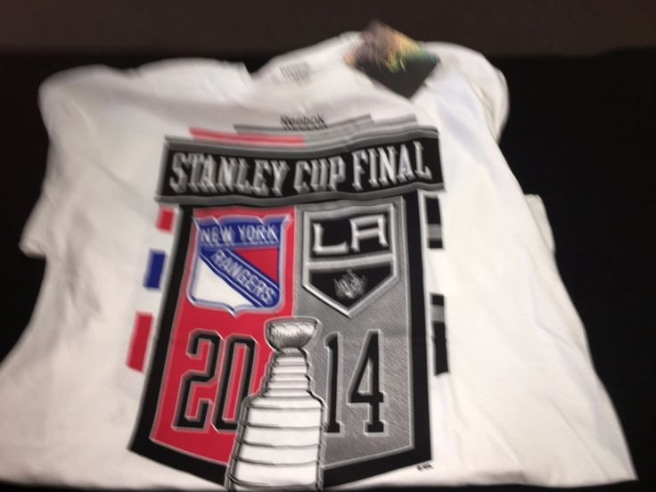 New York Rangers NHL 2014 Stanley Cup Finals White Reebok T-Shirt NEW Mens Large