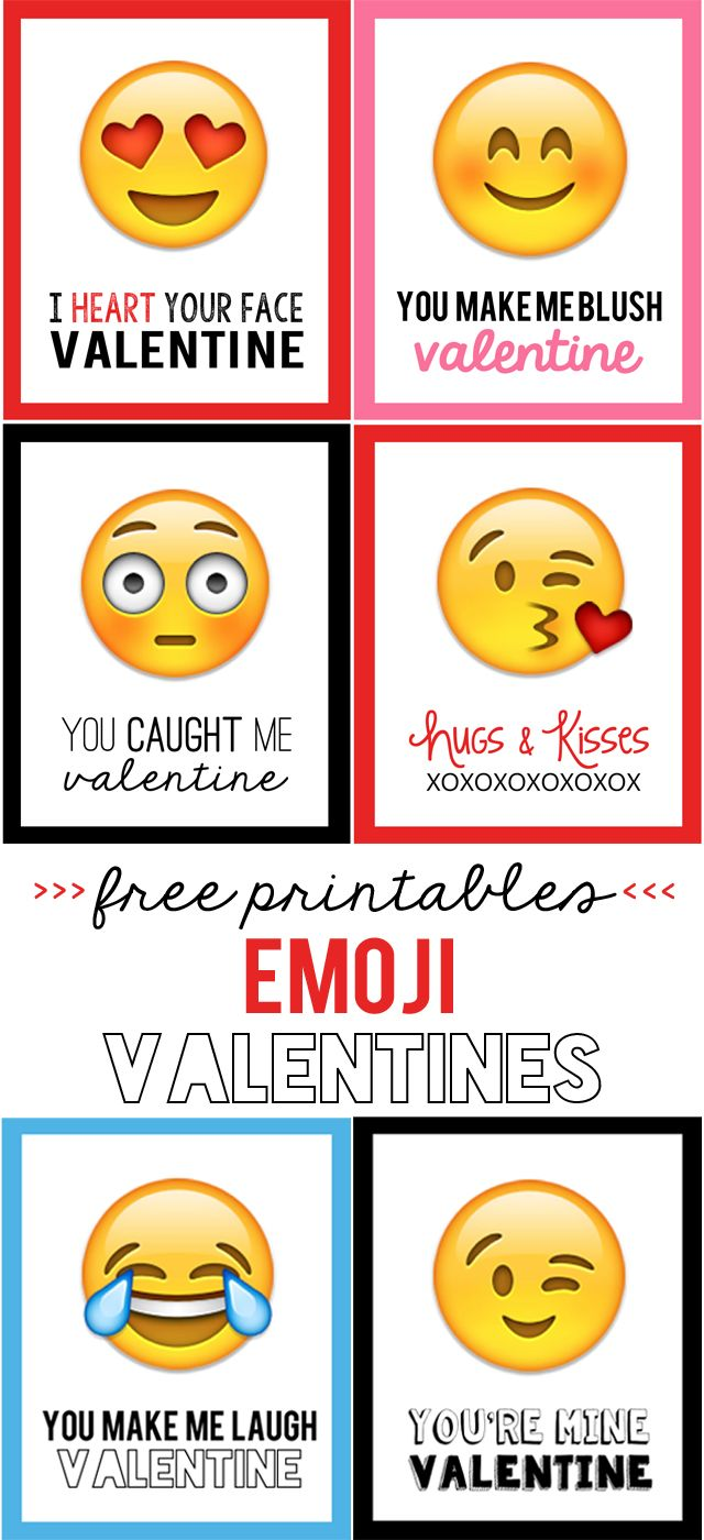 Emoji Valentines - My Sister's Suitcase - Packed with Creativity