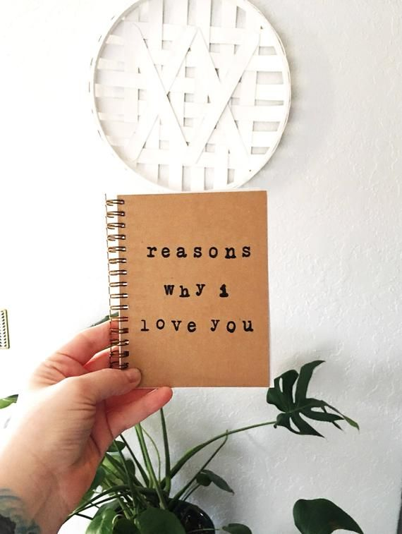 Valentine's day gift for him, reasons why i love you notebook, love notebook, vow journal, valentines day gift, girlfriend gift, valentine