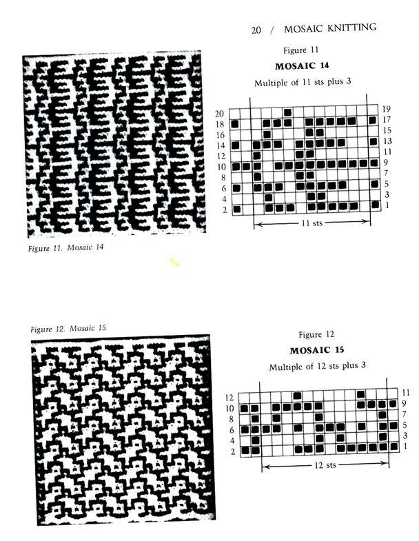 Mosaico Knitting Barbara G. Walker (slinkais žakards) # 25