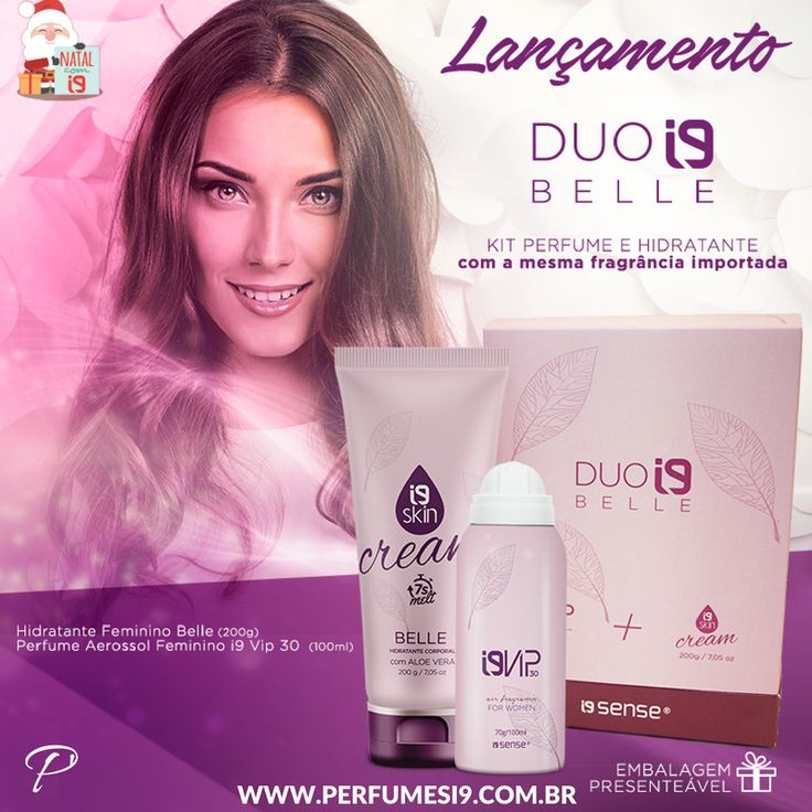 Atenção → Dica de presente infalível!  O Duo Belle é um kit de Hidratante + Perfume com a mesma fragrância importada inspirada no La Vie Est Belle da Lâncome. Perfeito para mulheres elegantes e delicadas, não tem como errar ;)