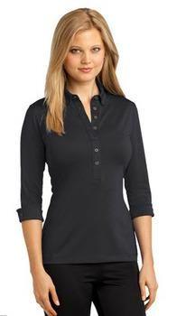 Ladies Cuffed Sleeve Polo - SharperUniforms.com