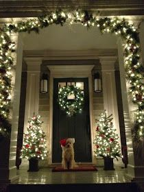 It's A Colourful Life: Early Christmas Decor Ideas - Your Front Entrance