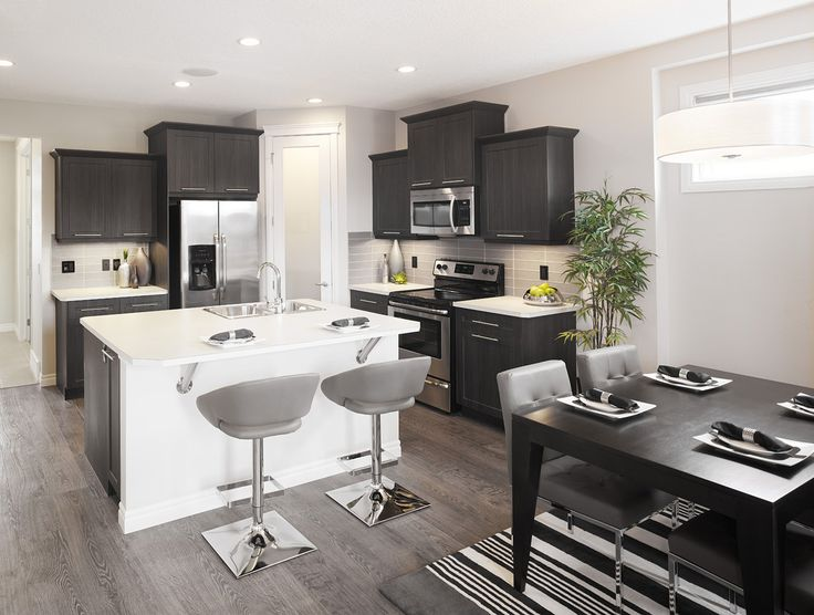 The Aspenstone Kitchen in Riversong – Trico Homes – Check out the new homes built by www.tricohomes.com #homebuilder #tricohomes #calgary