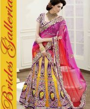 bridal lehenga type  saree