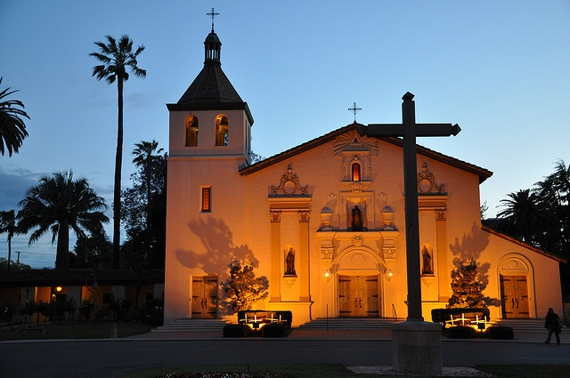 california mission churches, especially this one at Santa Clara University where I graduated
