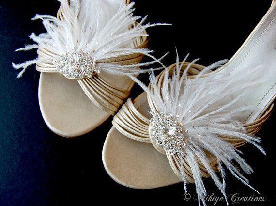 Bridal Shoe Clips Wedding Shoe Clips Wedding par MikiyeCreations, $54.00